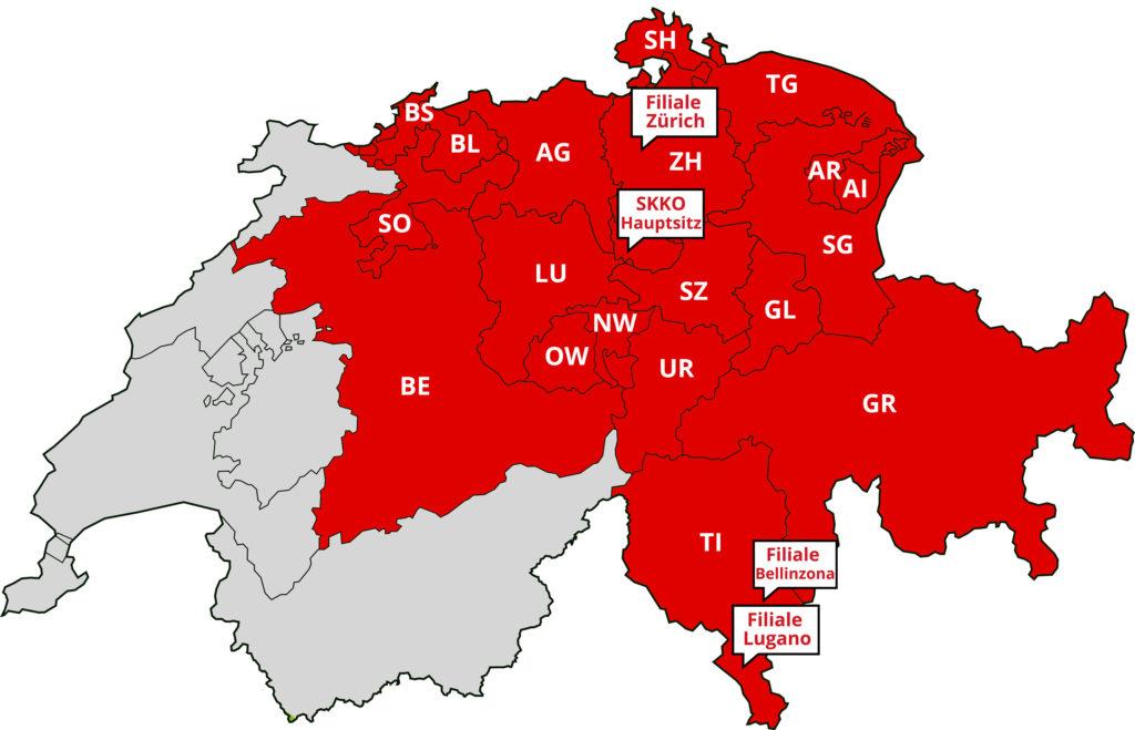 SKKO Beratungsregionen